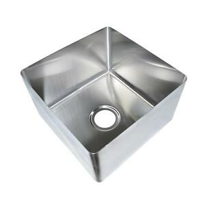Bk Resources 18 X 18 X 12 One Compartment Stainless Steel Weld in Sink