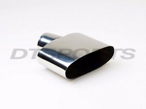 Different Trends Dt 24107 Oval Round Slanted Stainless Exhaust Tip