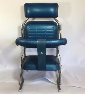 Vintage 60 S Baby Child Kids Car Seat Booster Seat Blue Vinyl Toddletime