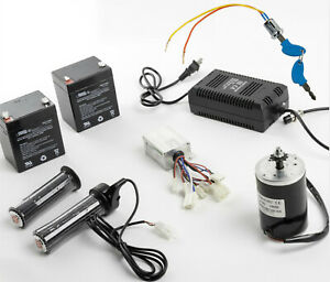 150w Electric Motor Kit W Control Box twist Throttle key Lock charger batteries