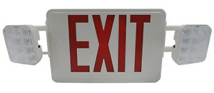 Led Exit Sign W emergency With Led Lights Us Seller