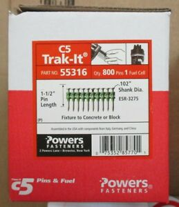 55316 Powers Fasteners For C5 Trak it 1 1 2 Pin box Of 800