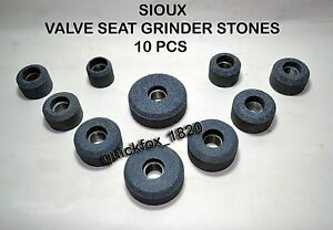 Valve Seat Grinding Stones For Sioux 12 Pcs Steel Thread Bush 11 16 X 16 Tpi