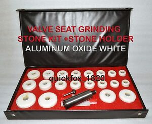 Black Decker Valve Seat Grinder Stones Zircon White 20 Pcs Holder 100 Grit