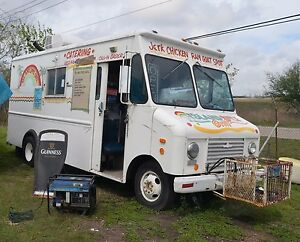 Food Truck With Built in Smoker Barbecue Pit In Rear Compartment Ready To Work