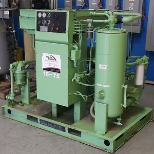 Used Sullair 75 Hp Rotary Screw Air Compressor Low Hours