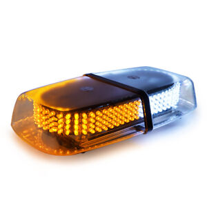Xprite 240 Led Light Bar Roof Top Emergency Beacon Warning Strobe White Amber