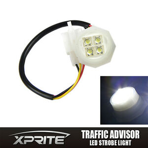1 White Led Hide A Way Flash Strobe Tube Replacement Spare Headlight Bulb 180w