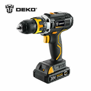 Deko 20volt Max Electric Screwdriver Cordless Drill Mini Wireless Power Driver