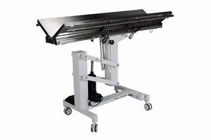 New Veterinary Surgical Operating Table Model Ft 828 Electric Lift V top Tilt