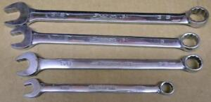 Snap on 4pc Sae Flank Drive 12pt Combination Wrench Set