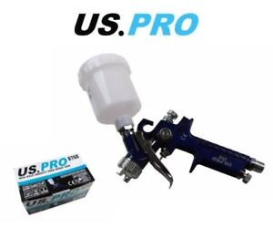 Us Pro Mini Hvlp Gravity Feed Spray Gun 115ml Pp Cup 0 8mm Nozzle 8768