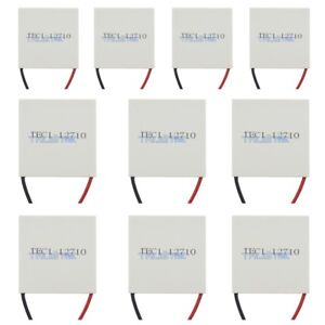 10pcs New 12v Tec1 12710 Heatsink Thermoelectric Cooler Peltier Plate Module