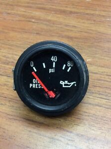 Vintage Stewart Warner Electric Oil Pressure Gauge 831670