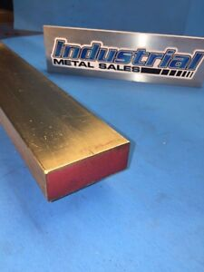 1 X 2 X 12 long 360 Brass Flat Bar 1 X 2 360 Brass Mill Stock
