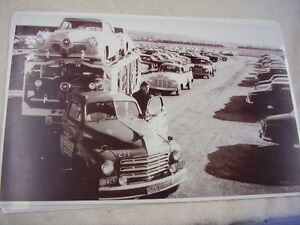 1951 Studebaker Cars An Trucks On Car Carrier 11 X 17 Photo Picture