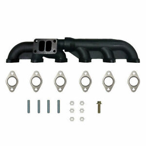 2 Piece Exhaust Manifold For 2003 2007 Dodge Cummins Common Rail T 3