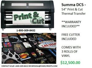 Black Summa Dc5 Vinyl Printer 54 Print And Cut Warranty Included