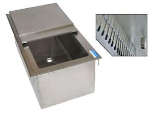 Bk Resources Dicp7 3420 34 w X 20 d Drop in Ice Bin W 7 Circuit Cold Plate
