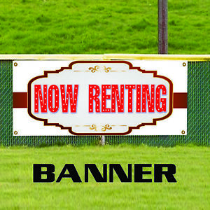 Now Renting Real Estate Property House Vinyl Banner Sign