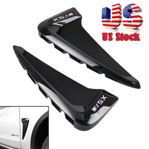 Side Body Marker Fender Air Wing Vent Trim M For Bmw X5 F15 2014 Gloss Black