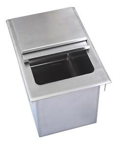 Bk Resources 36 w X 20 d X 12 h Drop in Stainless Steel Ice Bin W Lid