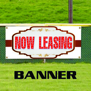 Now Leasing Real Estate Property House Vinyl Banner Sign