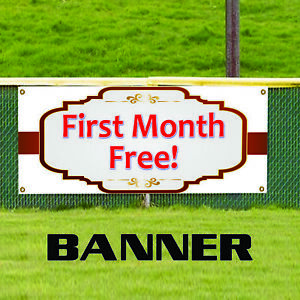 First Month Free Business Advertising Indoor Outdoor Banner Sign