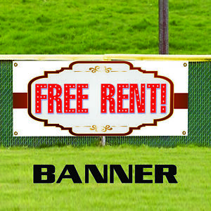 Free Rent Business Advertising Indoor Outdoor Apartment Banner Sign