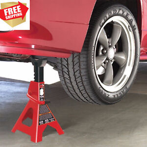 Heavy Duty Steel Floor Jack Stands Locking Car Lift 2 Ton Capacity 1 Pair Paw