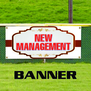 New Management Advertising Vinyl Banner Sign Owner Ownership Store