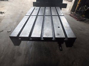 33 25 X 21 5 X 2 Steel Welding T slotted Table Cast Iron Layout Plate 5 Slot