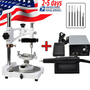 Dental Parallel Surveyor W 6pc Spindle Polishing Handpiece Micromotor Polisher