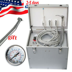 Fda Dental Portable Delivery Cart Unit Compressor Handpiece Tube Suction System