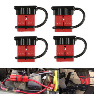 4pcs Car Auto Battery Winch Quick Connect Disconect Plug Terminal Connector 50a