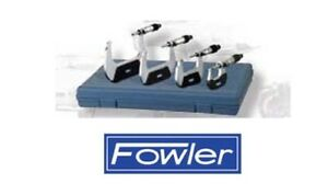 Fowler High Precision 72 229 220 Metric Outside Micrometer Set