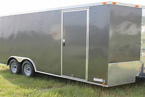 8 5x18 Enclosed Trailer Cargo V nose Tandem Utility Motorcycle Lawn 16 20 New