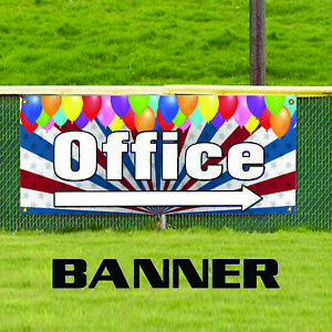 Office With Right Arrow Business Advertising Vinyl Commercial Banner Sign