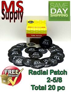 20 Pc 2 5 8in Large Round Usa Style Universal Repair Tube Radial Tire Patch