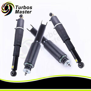 4x Brand New Front Rear Air Ride Shock Absorbers For Chevy Gmc Cadillac