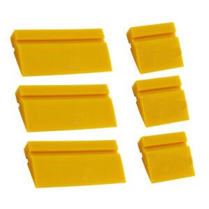 6 Yellow Turbo Squeegee Blade Rubber For Window Glass Tint Film Install Tool Us