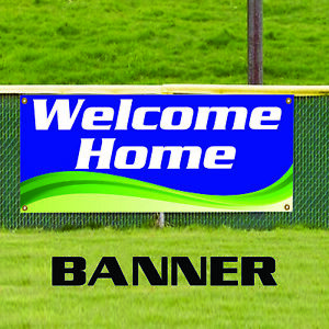 Welcome Home Banner Sign Business Advertising Residential Indoor Outdoor