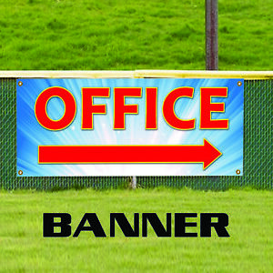 Office Right Arrow Business Advertising Vinyl Commercial Banner Sign