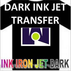 Ink Jet Iron on Heat Transfer Paper Dark Fabric 100 Shs 8 5 x11 Blue Grid