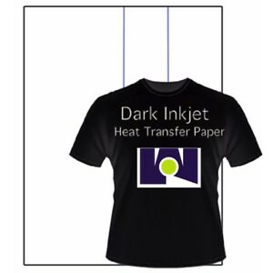 New Iron On Heat Transfer Paper Dark Colors T Shirt Inkjet Printer Bl 50 8 5x11