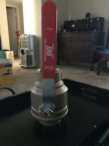 New Red White 3 Full Port Brass Ball Valve