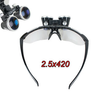 Dental Surgical Binocular Loupes 2 5x420mm Optical Glass Loupe Flip up Magnifier