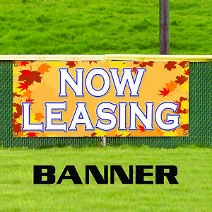Now Leasing Business Advertising Vinyl Real Estate Office Retail Banner Sign