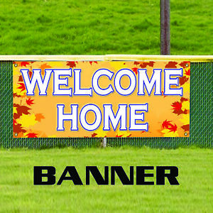 Welcome Home Apartment Real Estate House Property Residence Banner Sign