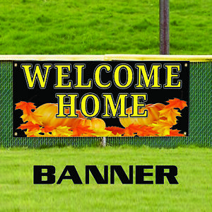 Welcome Home Pumpkin Business Advertising Real Estate Apartment Banner Sign